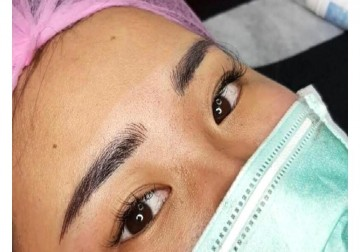 Image Sulam Alis Microblanding 6D Eyebrow Embroidery